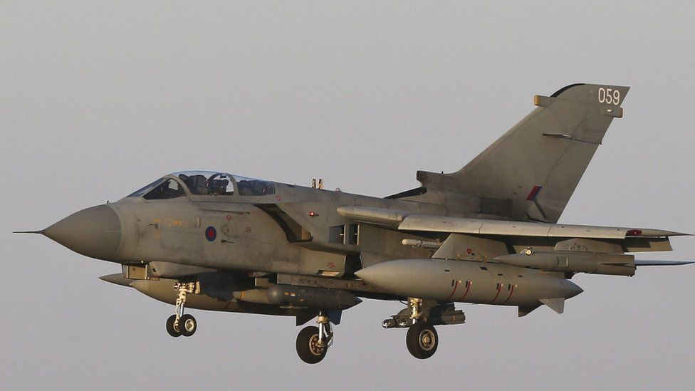 RAF Tornado GR4 returning to RAF Akrotiri in Cyprus after an armed mission in Iraq in September 2014
