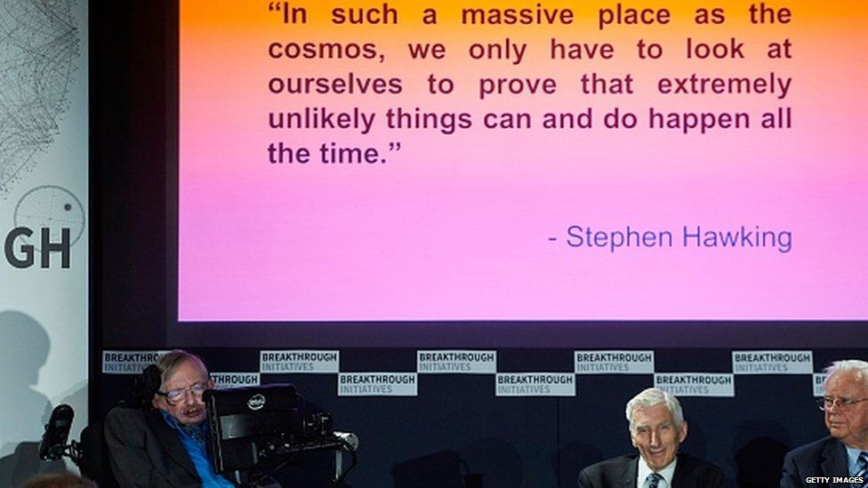 Prof Stephen Hawking said efforts to create thinking machines posed a threat to our very existence.