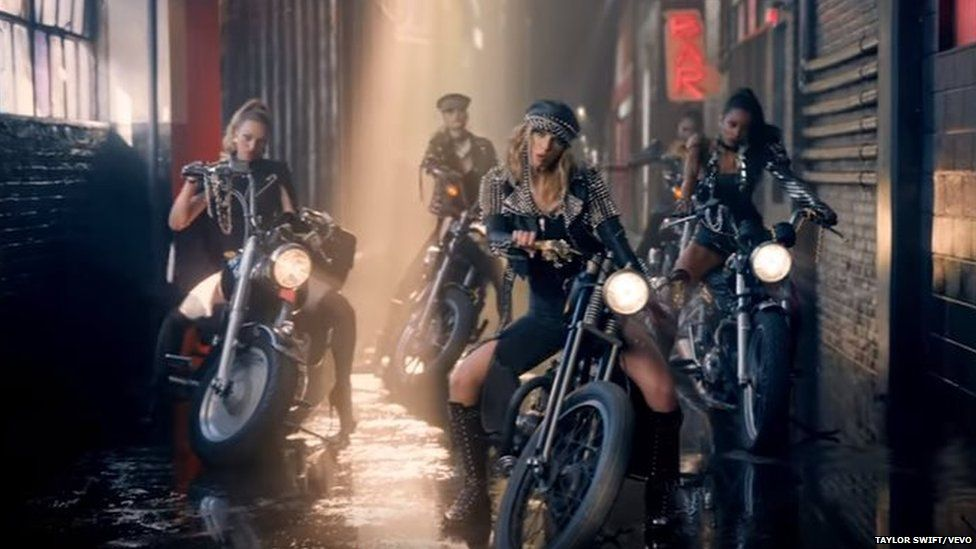 Taylor Swift as a biker