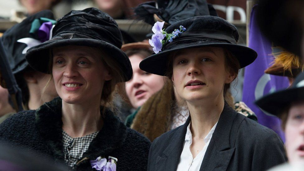 Anne-Marie Duff (left) and Carey Mulligan (right) in Suffragette