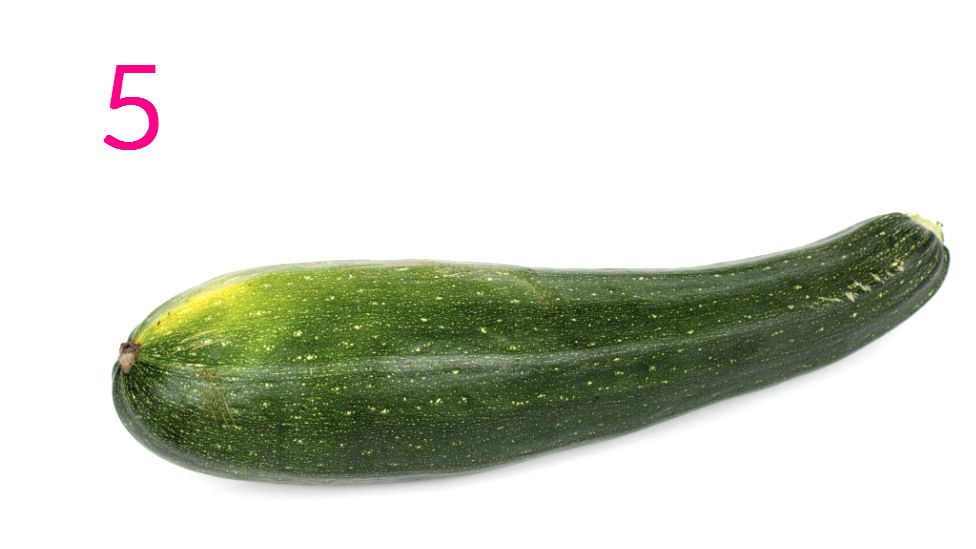 A courgette with which to make courgette spaghetti