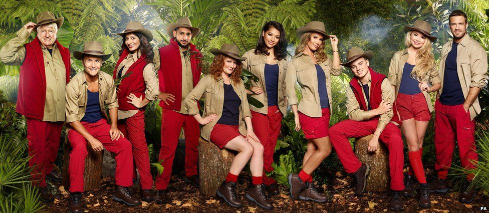 The contestants on I'm a Celebrity...Get Me Out of Here! 2017