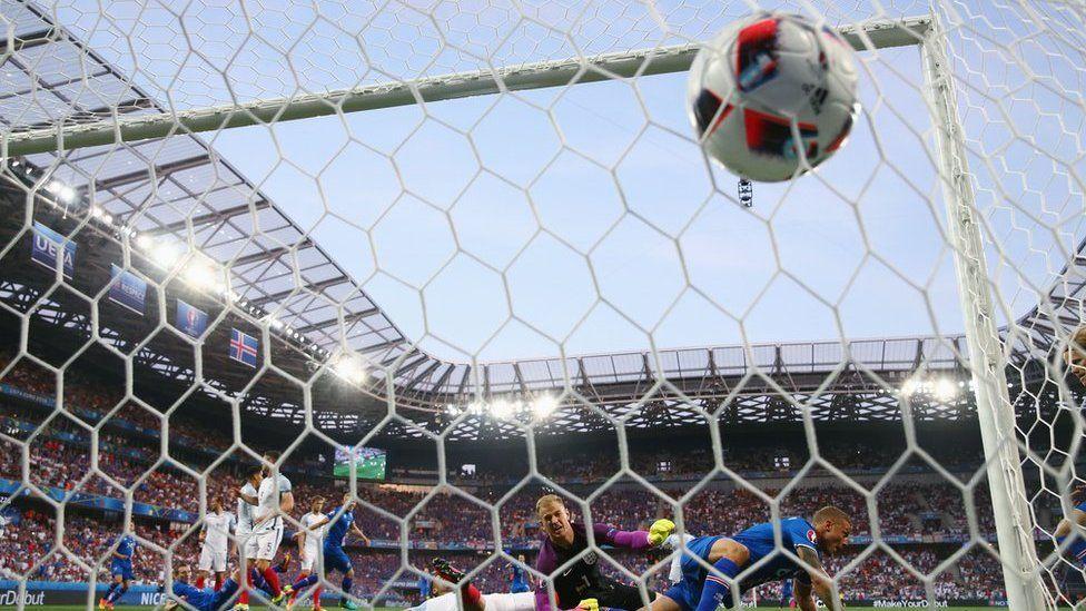 England concede a goal