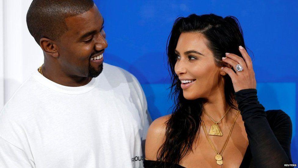 Kanye and Kim Kardashian-West