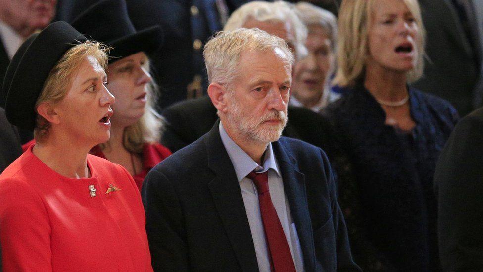 Jeremy Corbyn not singing