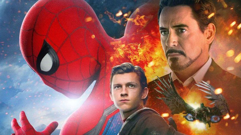 This is a photo of the Spider-Man poster being dragged on social media.