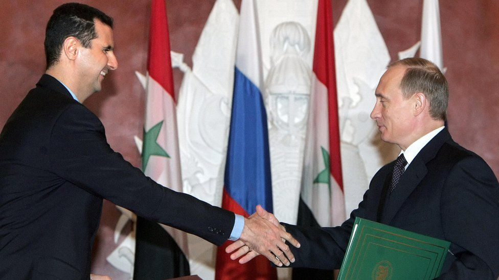 Syrian President Bashar al-Assad and Russian President Vladimr Putin