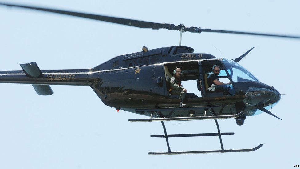 Helicopter over Oak Island