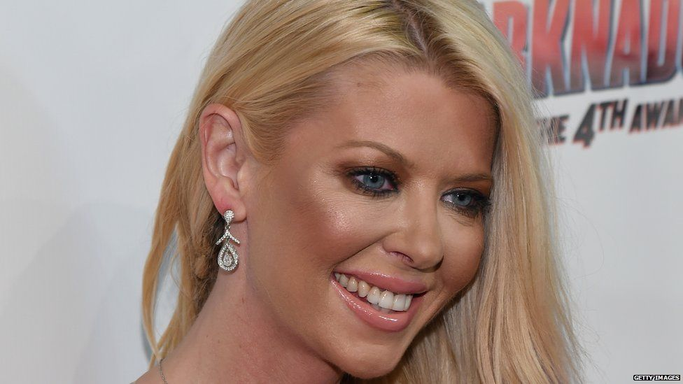 Actress Tara Reid at a premiere