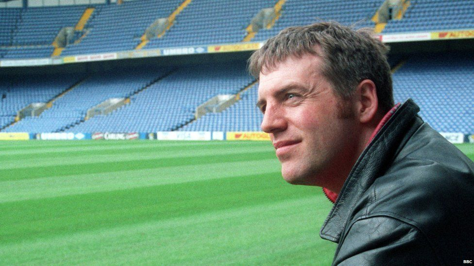 Donal MacIntyre at Chelsea's stadium