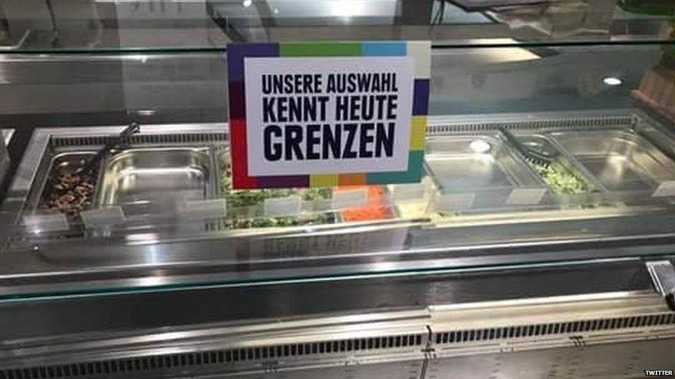 Supermarket's empty salad bar
