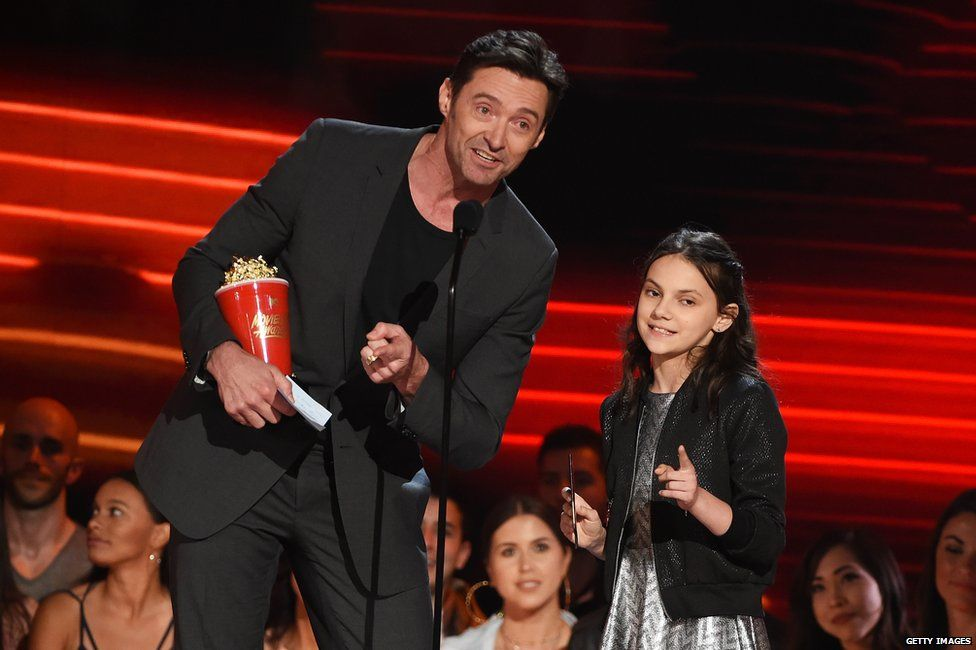 Hugh Jackman and Dafne Keen
