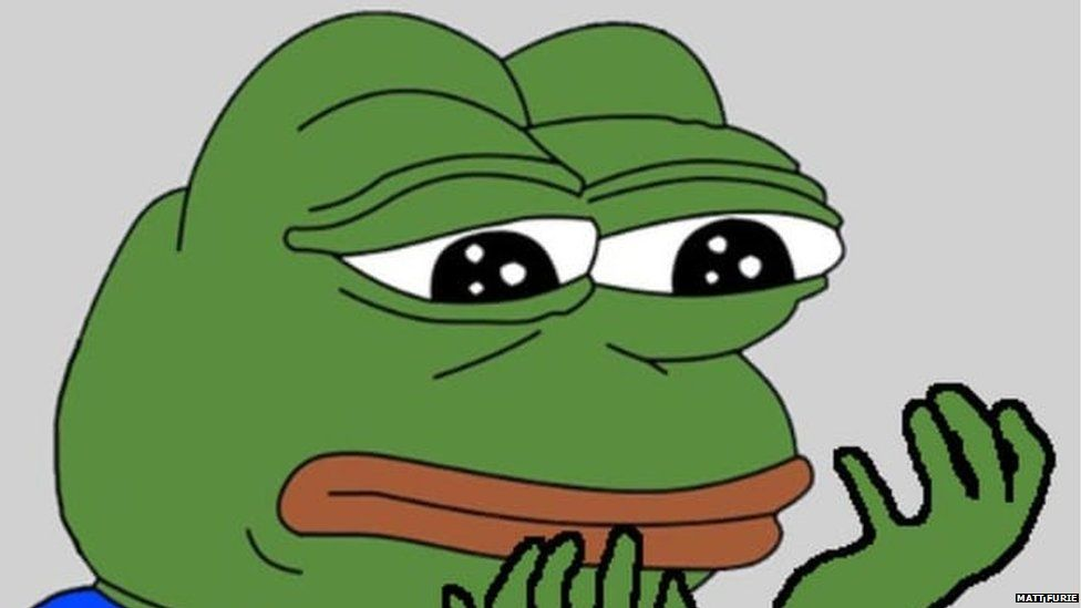 This is a photo of cartoon Pepe the Frog.