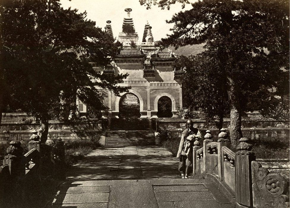 Thomas Child. No. 138. Pe-Yun-Tze, Azure Cloud Temple. 1870s. Albumen silver print.