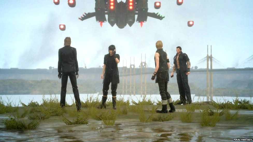 The four main characters in Final Fantasy 15