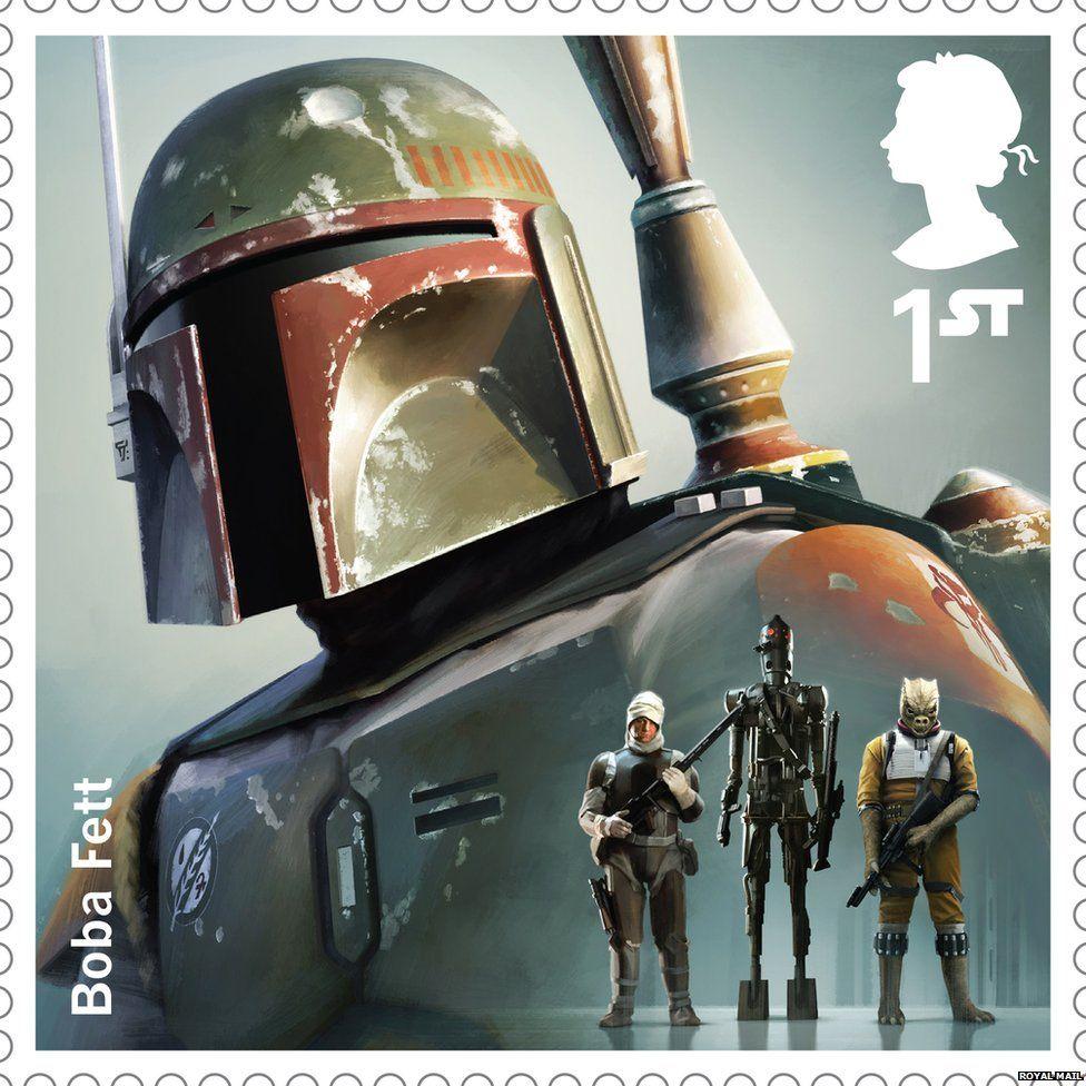 Boba Fett stamp