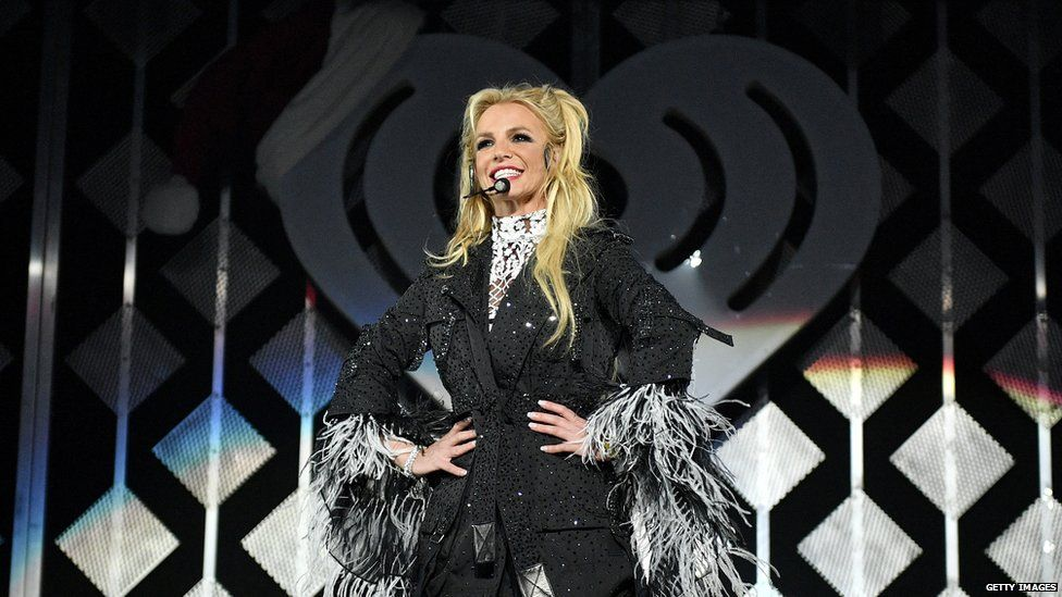 Britney Spears performing in 2016