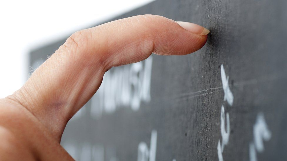 Nail on a blackboard