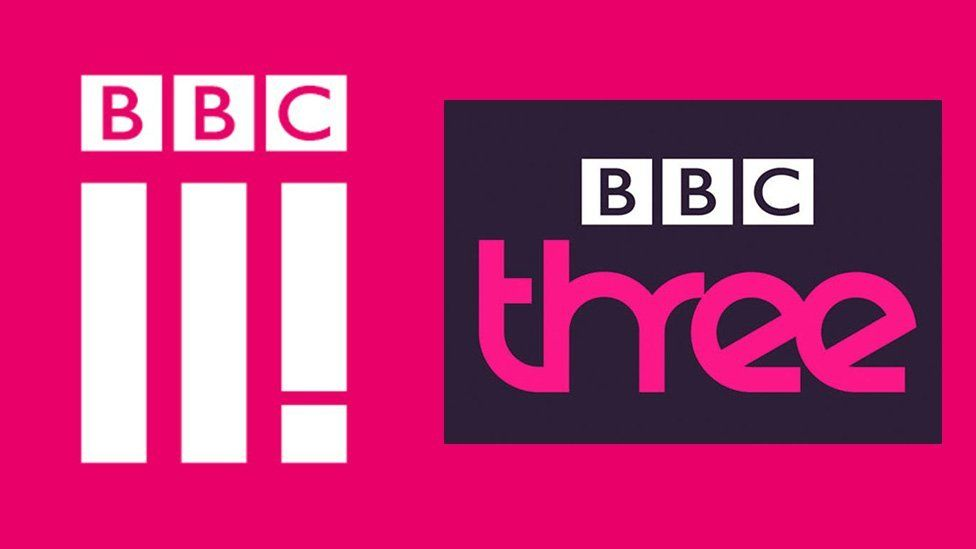 BBC Three's new and old logo