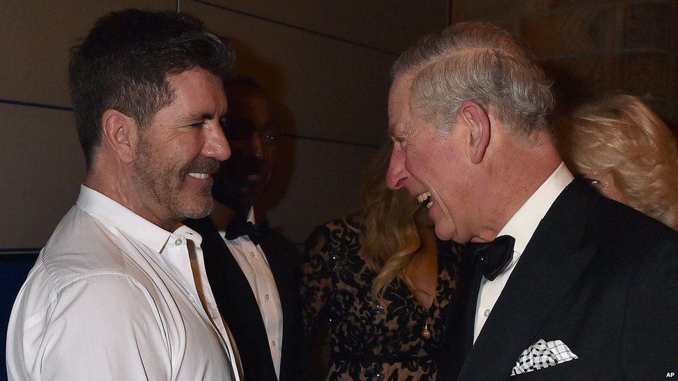 Simon Cowell meets Prince Charles