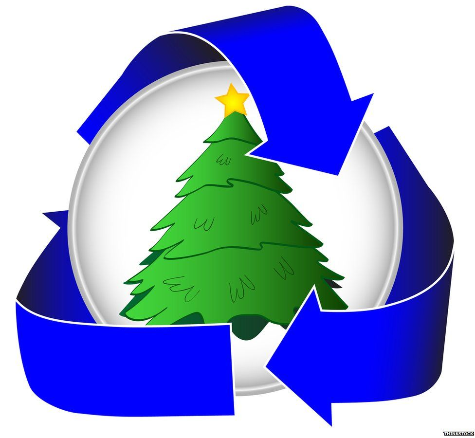 Christmas tree recycle sign