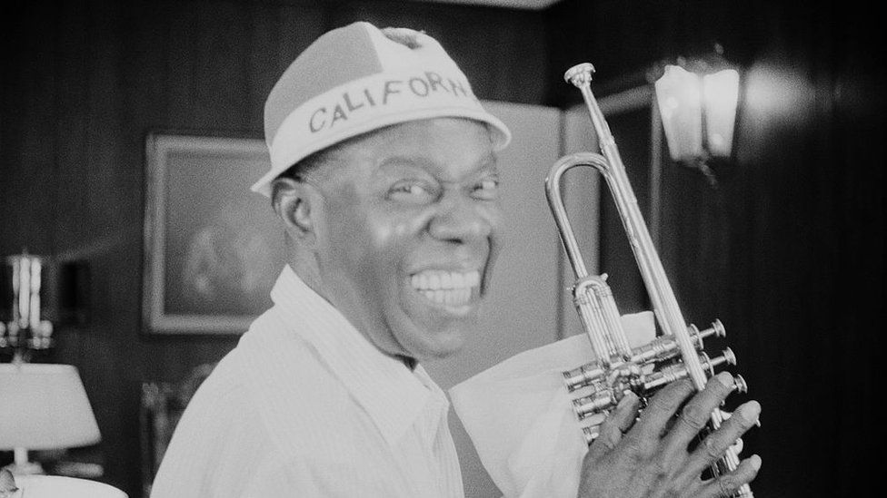 Louis Armstrong smiling