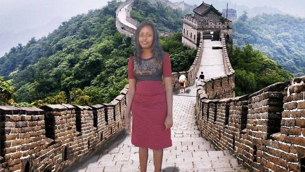 Kenyan woman edits herself into holiday photos with