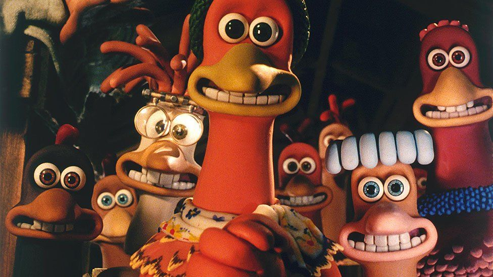 A scene from Chicken Run
