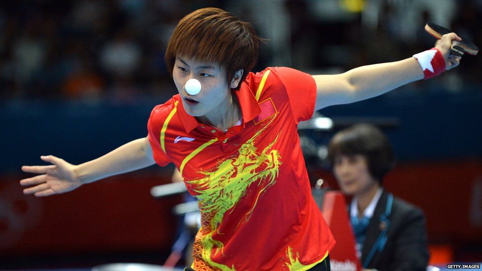 Chinese table tennis playerDing Ning