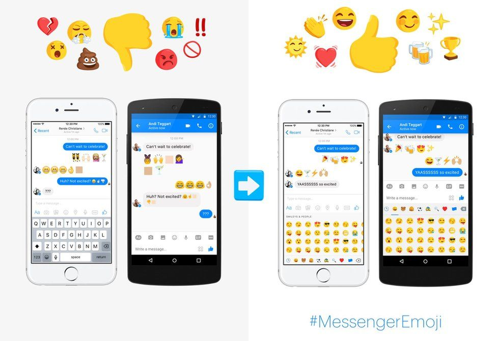 Facebook Messenger emojis
