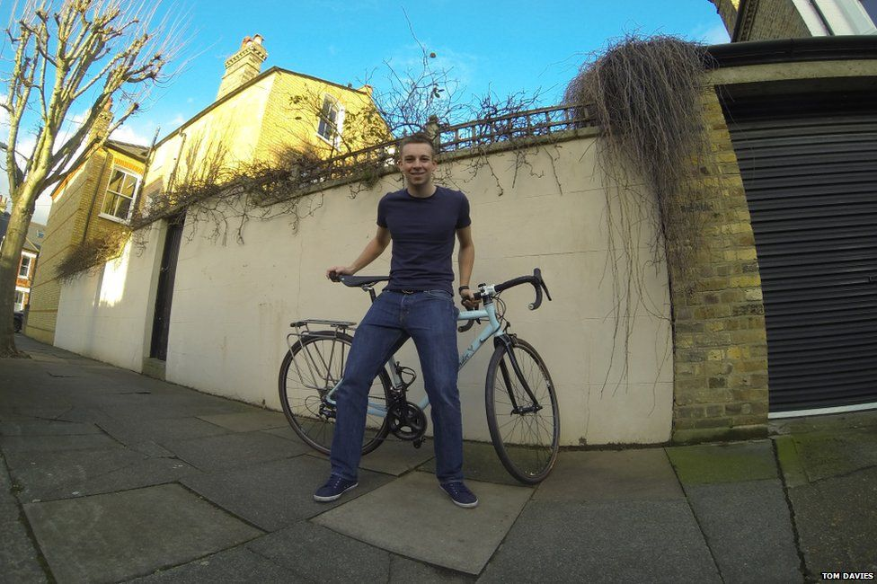 Tom Davies in Battersea before leaving