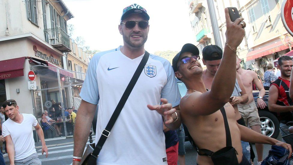 Tyson Fury with England fans