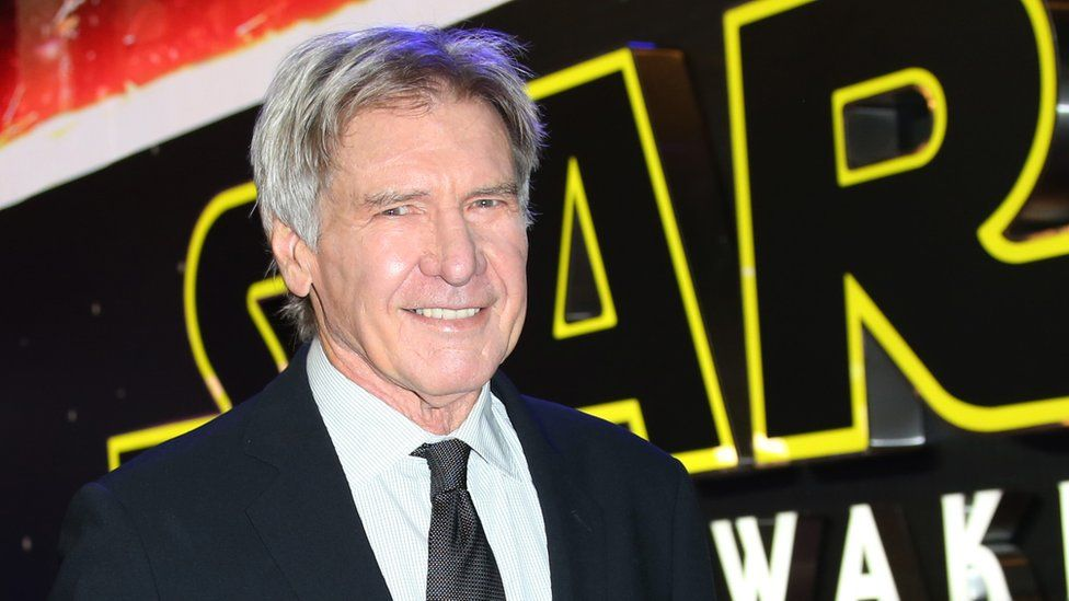 Harrison Ford at the UK premiere of Star Wars: The Force Awakens