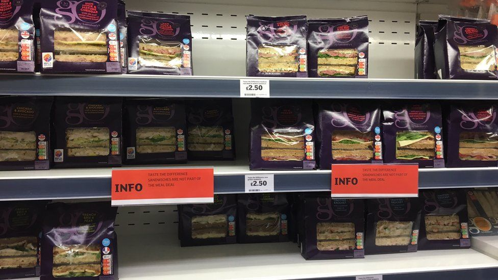 Sainsbury's sandwiches