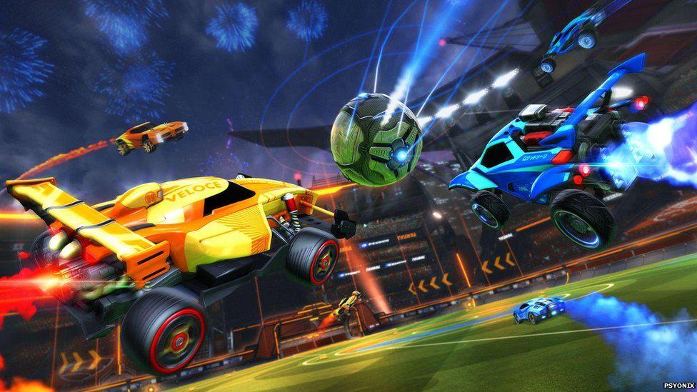 Gameplay of Rocket League