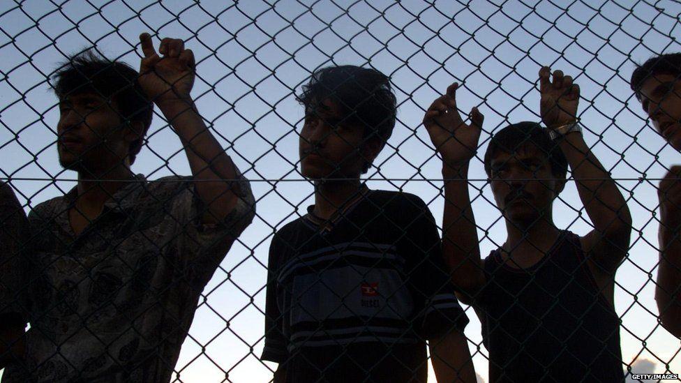Refugees at the Nauru centre