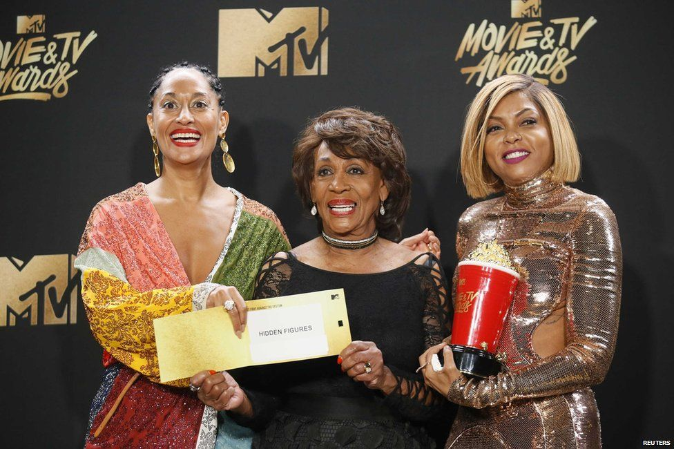 Tracee Ellis Ross, Maxine Waters and Taraji P. Henson