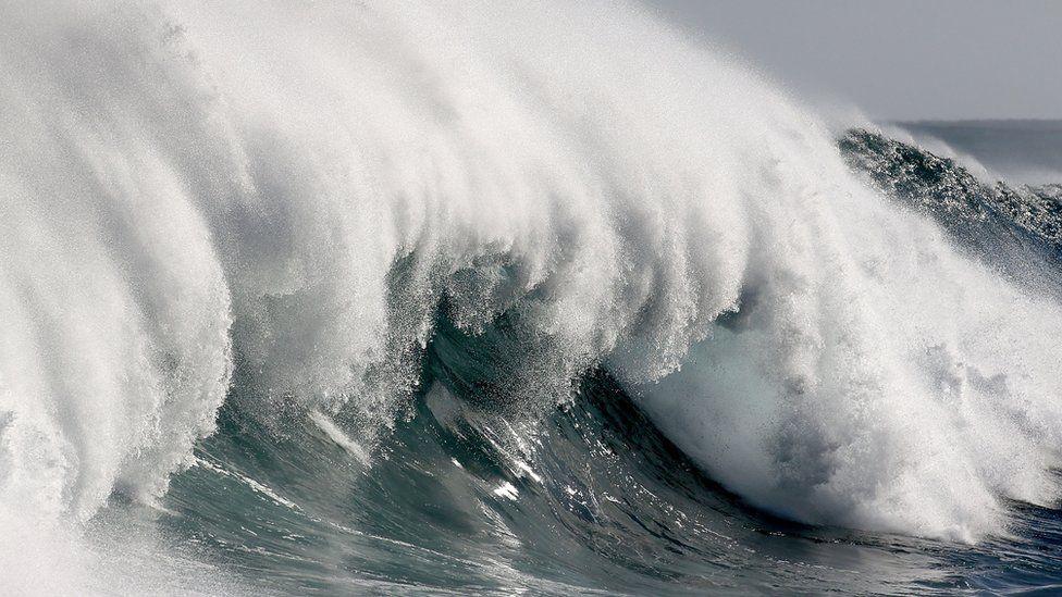 Surfer Breaks Leg Riding On Biggest Wave In Australia Bbc