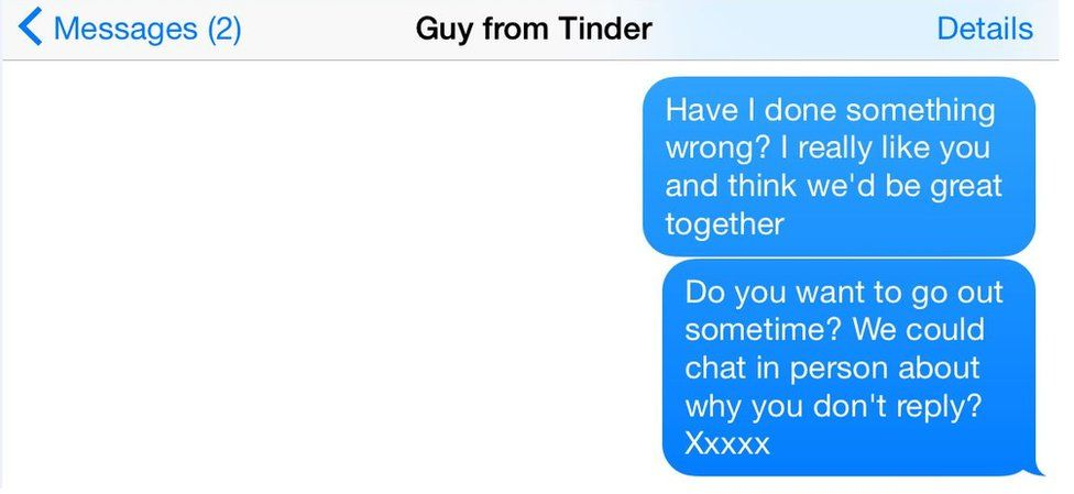 Sending messages without a reply can be seen as harassment