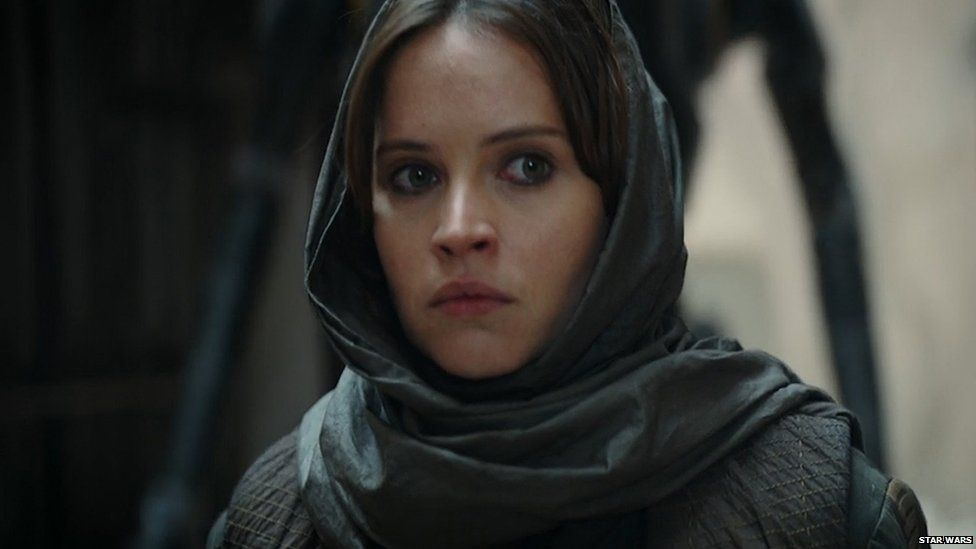 Felicity Jones plays Jyn Erso