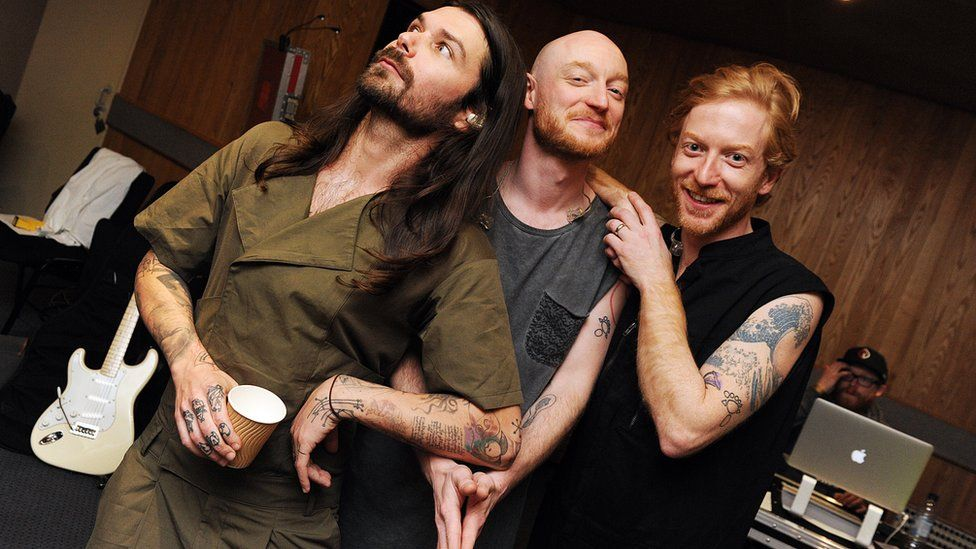 Biffy Clyro in session for Annie Mac on Radio 1 at Maida Vale studios on Thursday 28 April 2016.