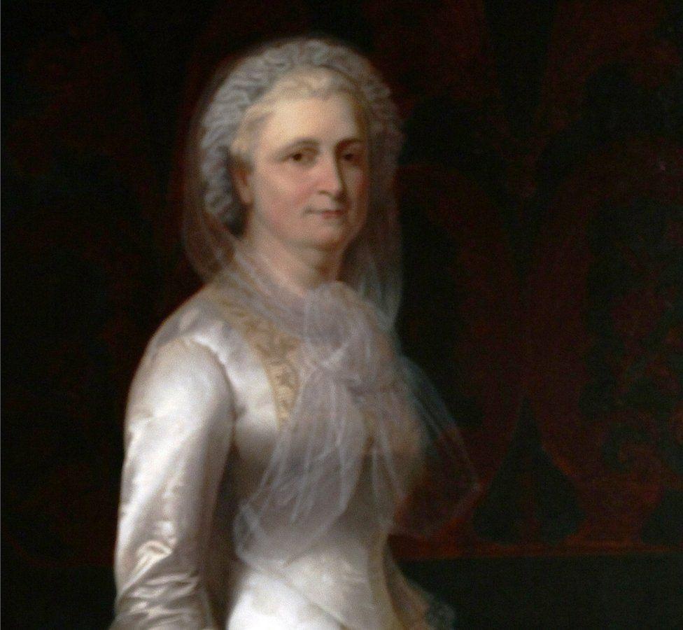 A painting of Martha Washington