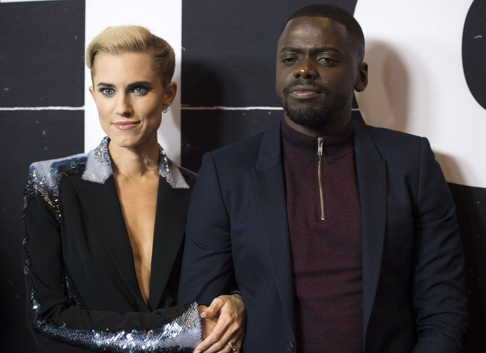 Daniel Kaluuya stars alongside Girls' Allison Williams in Get Out. Photo of them at the premiere.