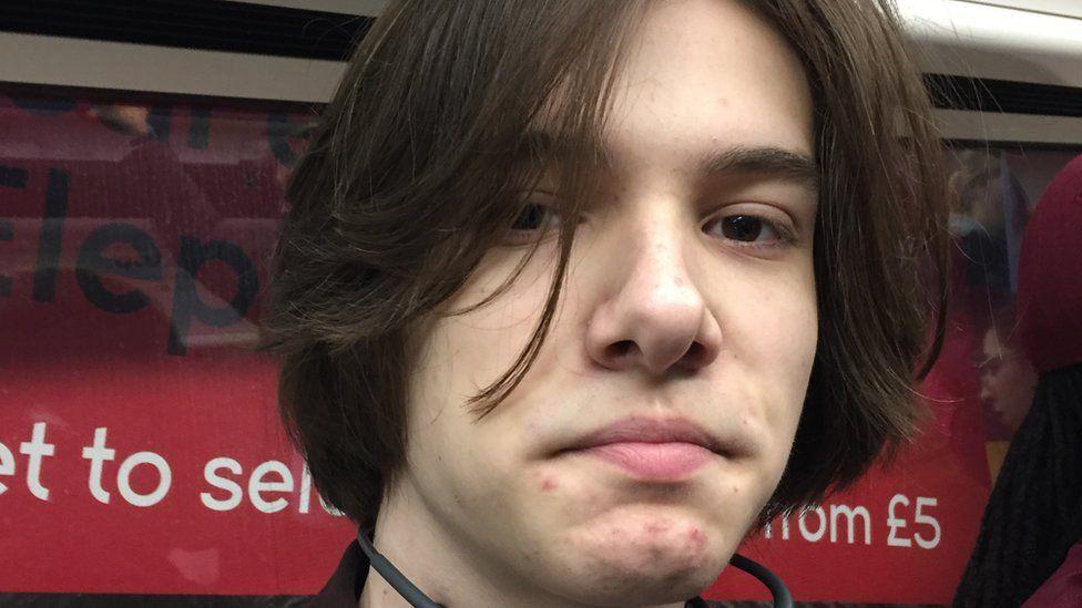 Edwin, a 17-year-old passenger on the London Underground