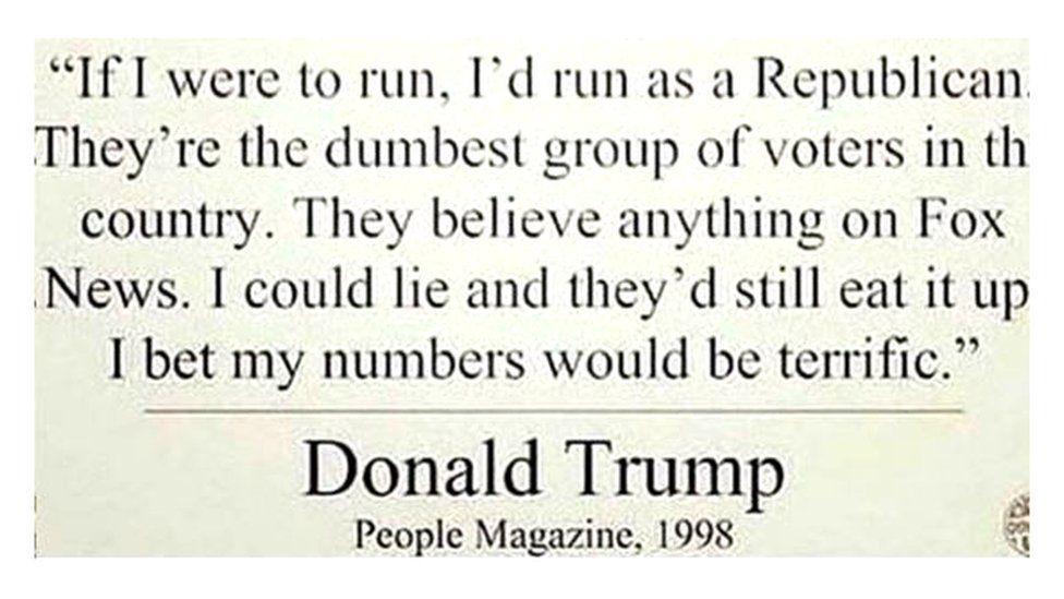 Fake Trump quote