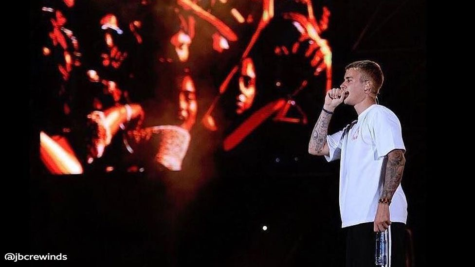 Justin Bieber at his Mumbai concert May 2017