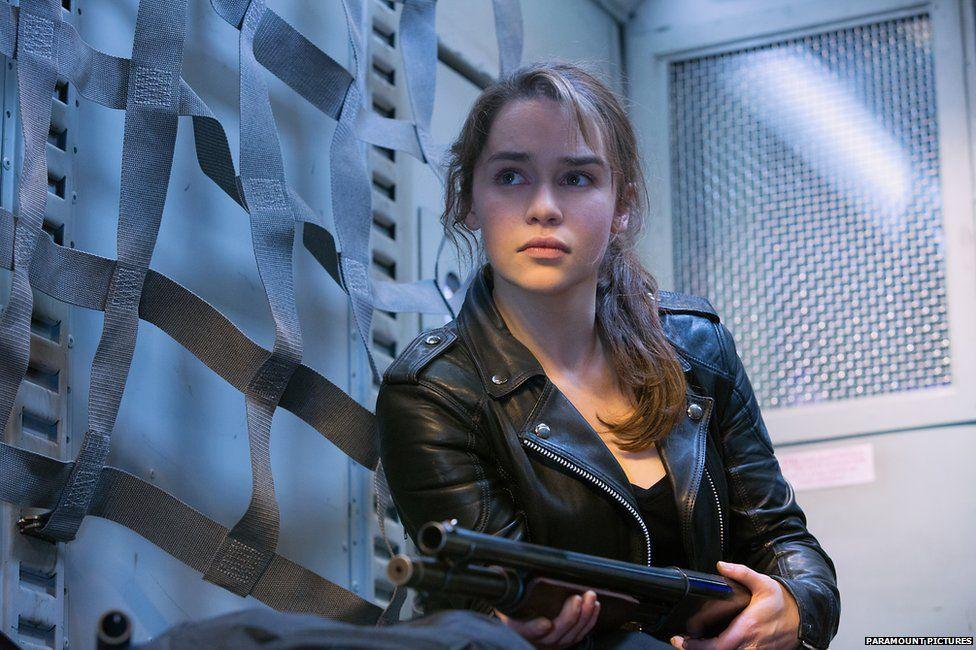 Emilia Clarke as Sarah Connor in Terminator Genisys