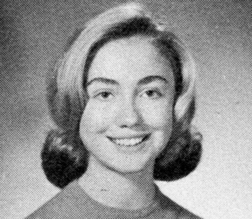 Hillary's yearbook photo from 19965