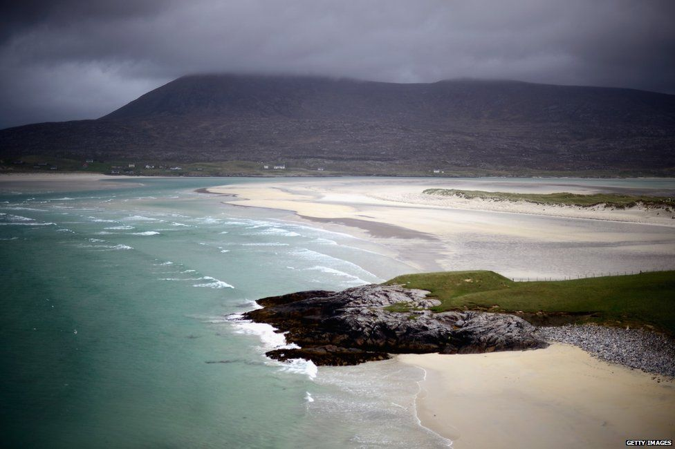 Luskintyre beach in Harris on the Outer Hebrides