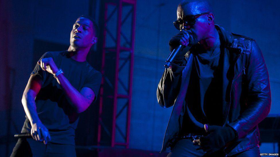 Kid Cudi and Kanye West in 2011
